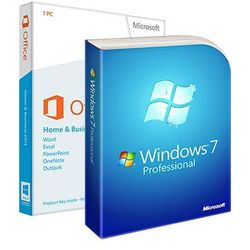 Windows 7 Professional + Office 2013 Home and Business, licencje elektroniczne 32/64 bit