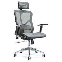 Fotele i krzesła biurowe, Ergonomiczny fotel biurowy ERGO 500 szary