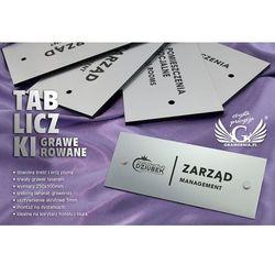 Tabliczki informacyjne dla firmy i biura - SZ091 - wym. 250x100mm