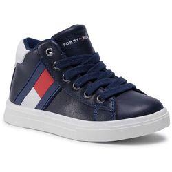 Sneakersy TOMMY HILFIGER - Low Cut Velcro Sneaker T1B4-30905-0900 Blue/White X007