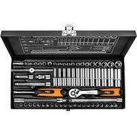 Zestawy narzędzi ręcznych, Zestaw kluczy nasadowych NEO 08-679 1/4 cala (63 elementy) + Zamów z DOSTAWĄ JUTRO! + DARMOWY TRANSPORT!