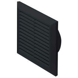 Kratka osłona wentylacyjna 14x14 TUS.fi100(W) czarna T61CZ Awenta