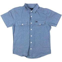 koszula BRIXTON - Davis S/S Wvn Light Blue Chambray (LBLCH) rozmiar: M