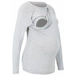 Sweter ciążowy i do karmienia piersią bonprix jasnoszary melanż
