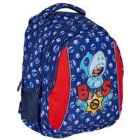 Tornistry i plecaki szkolne, Plecak 1 zamek 4 kieszenie leon sharks astra 502021017