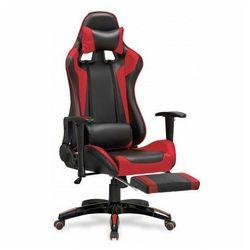 Fotel gamingowy obrotowy z podnóżkiem X-One czerwony