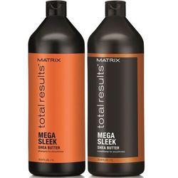 Matrix Total Results Mega Sleek - Zestaw wygładzający do włosów: Szampon 1000ml + Odżywka 1000ml