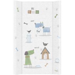 MAMO-TATO Przewijak na łóżeczko usztywniony 50x70 Pieski niebiesko-zielone