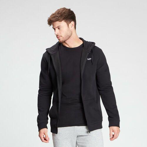 Pozostała moda, Męska bluza z kapturem zapinana na suwak z kolekcji Essentials MP – czarna - S