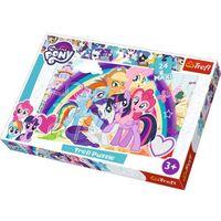 Puzzle, Trefl Puzzle 24 elementy Maxi My Little Pony, Szczęśliwe kucyki