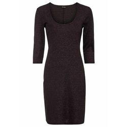 Sukienka neoprenowa bonprix czarno-kremowy wzorzysty