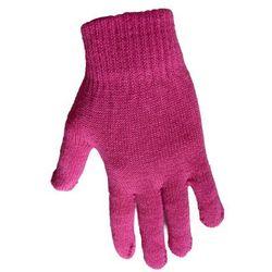 1 Kiddy rękawiczki 5-palczaste jednokolorowe ciemny róż