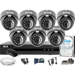 Monitoring Full HD BCS Basic Full HD 2MPx 1TB H265+ 7 x Kamera kopułkowa 2.8mm IR 30m
