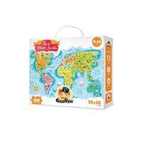 Puzzle, Mapa świata, puzzle (168 elementów)6-12 lat