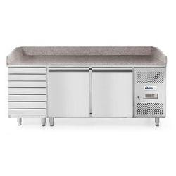 Stół chłodniczy 2- drzwiowy z 7 szufladami i blatem granitowym HENDI 232842