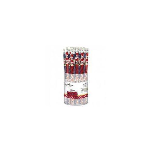 Ołówki, Ołówek z gumką Minnie 19 48 sztuk - Derform