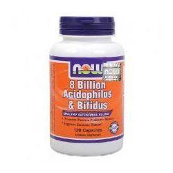 Probiotyki 8 Billion Acidophilus & Bifidus 120kaps.