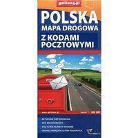 Mapy i atlasy turystyczne, Polska mapa drogowa z kodami pocztowymi 1:650 000 - Lider Serwis (opr. miękka)
