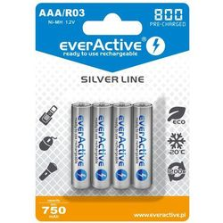 Akumulatorki EVERACTIVE Ni-MH R03 AAA 800 mAh Silver Line (4 szt.)