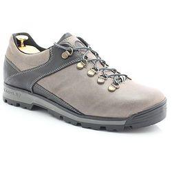KENT 290 SZARY-CZARNY - Trekkingowe buty męskie ze skóry - Szary ||Czarny Wyprzedaż -50 zł (-20%)