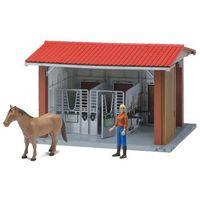 Figurki i postacie, BRUDER Stajnia z koniem, koniuszą i akcesoriami - BEZPŁATNY ODBIÓR: WROCŁAW!