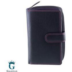 Wiśniowy portfel damski zapinany na zatrzask Carmelo R13