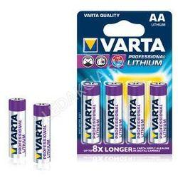 Varta Baterie Professional Lithium AA 4x + Bezpłatna natychmiastowa gwarancja wymiany!