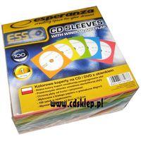 Pudełka i portfele na płyty, Koperty papierowe kolorowe z okienkiem 100szt.
