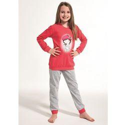 Piżama Cornette Kids Girl 594/108 Girl With Cat dł/r 86-128