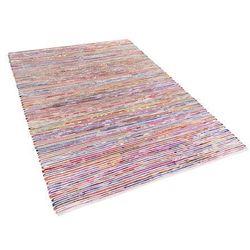 Dywan wielokolorowo-biały bawełniany 140x200 cm BARTIN
