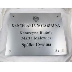 SZYLD NOTARIUSZA - szyld główny dwunazwiskowy dla spółki cywilnej - SZ025 - wym. 50x40cm