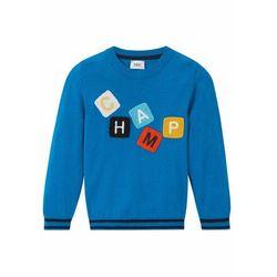 Sweter chłopięcy bonprix lazurowy niebieski