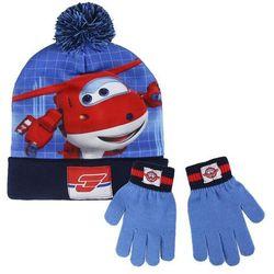 Komplet: czapka jesienna / zimowa i rękawiczki Super Wings