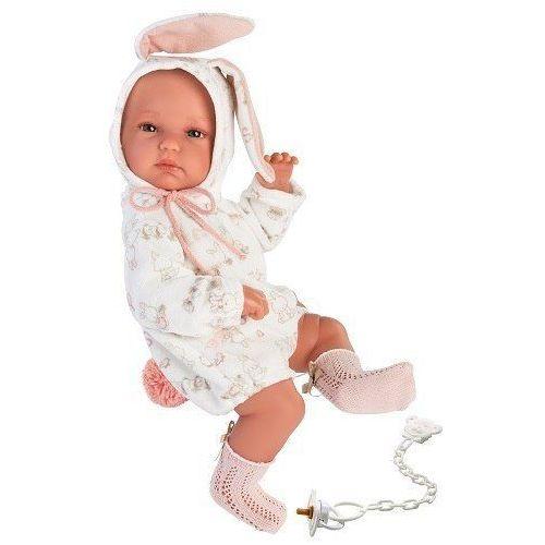 Lalki dla dzieci, Llorens Lalka bobas Bimba królik 63548 35 cm
