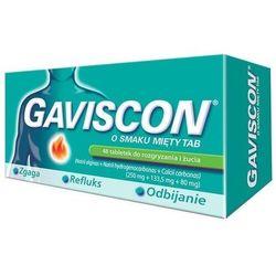 Gaviscon o smaku mięty TAB x 48 tabletek do rozgryzania i żucia