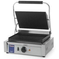 Grille gastronomiczne, Grill kontaktowy żeliwny pojedyńczy ryflowany | 340x230mm | 2200W