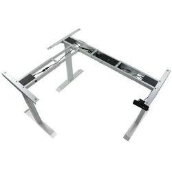 Trzysilnikowy kątowy stelaż metalowy biurka (stołu) z elektryczną regulacją wysokości, elektryczny, UT04-3T/90A/A, kolor alu - noga 3-segmentowa