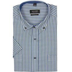 koszula bexley 2317 krótki rękaw custom fit zielony
