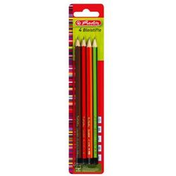 Ołówek drewniany 4szt H HB B 2B Scolair HERLITZ - H ||HB ||B ||2B