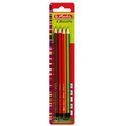 Ołówek drewniany 4szt H HB B 2B Scolair HERLITZ - H   HB   B   2B