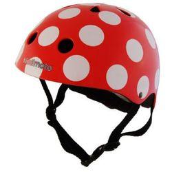 kiddimoto® Kask ochronny Design Sport, kropki czerwony - rozm. M, 53-58cm
