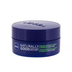 Nivea Naturally Good Organic Burdock Extract & Argan Oil krem na noc 50 ml dla kobiet