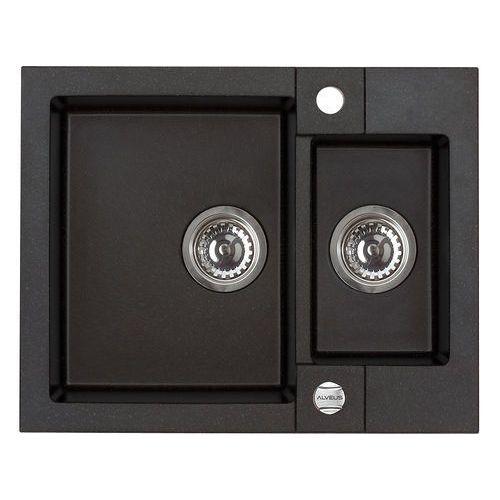 Zlew rock 80 czarny + deska drewniana // dostępne od ręki // marki Alveus
