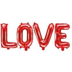 Balon foliowy czerwony LOVE 140 x 35cm