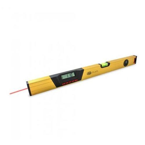 Poziomice laserowe, Poziomica elektroniczna z cyfrowym odczytem położenia i wiązką laserową (60cm)