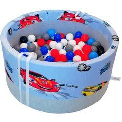 Suchy basen z piłeczkami dla dzieci BabyBall autka