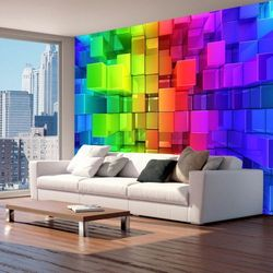 Fototapeta na flizelinie na ścianę HD - Kolorowa układanka 350 szer. 245 wys.