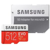 Karty pamięci, Karta pamięci SAMSUNG Evo Plus microSDXC 512 GB + Adapter