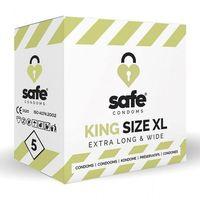 Prezerwatywy, Prezerwatywy XL - Safe King Size XL Condoms 5 szt