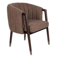 Fotele, Dutchbone Fotel TAMMY TEXAS w kratkę FR 1200187